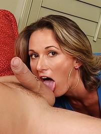 Ball licking milf